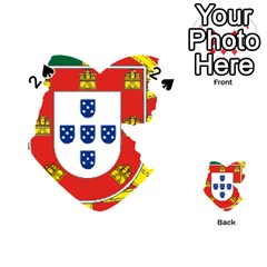 Flag Map Of Portugal Playing Cards 54 (heart)