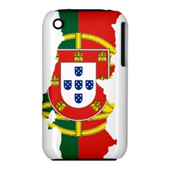 Flag Map Of Portugal Apple Iphone 3g/3gs Hardshell Case (pc+silicone) by abbeyz71