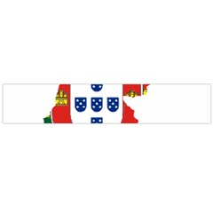 Flag Map Of Portugal Flano Scarf (large) by abbeyz71