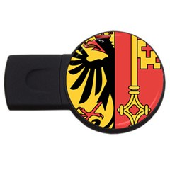 Coat Of Arms Of Geneva Canton  Usb Flash Drive Round (2 Gb)