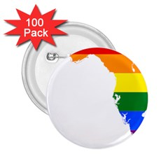 Lgbt Flag Map Of Florida 2 25  Buttons (100 Pack)  by abbeyz71