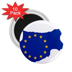 European Flag Map Of Cyprus  2 25  Magnets (10 Pack)  by abbeyz71