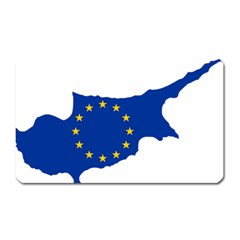 European Flag Map Of Cyprus  Magnet (rectangular) by abbeyz71