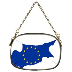 European Flag Map Of Cyprus  Chain Purses (one Side)  by abbeyz71