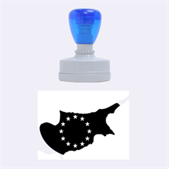 European Flag Map of Cyprus  Rubber Oval Stamps by abbeyz71