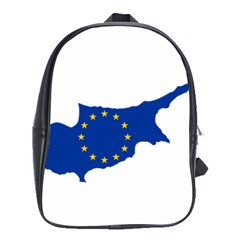 European Flag Map Of Cyprus  School Bags (xl)  by abbeyz71