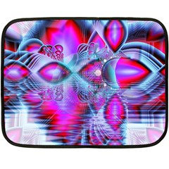 Crystal Northern Lights Palace, Abstract Ice  Double Sided Fleece Blanket (mini)  by DianeClancy