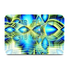 Crystal Lime Turquoise Heart Of Love, Abstract Plate Mats by DianeClancy