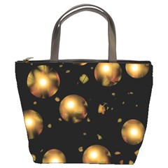 Golden Balls Bucket Bags by Valentinaart