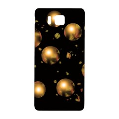 Golden Balls Samsung Galaxy Alpha Hardshell Back Case by Valentinaart