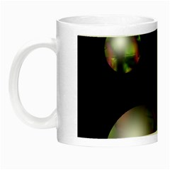 Silver Pearls Night Luminous Mugs by Valentinaart
