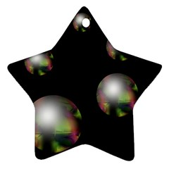 Silver Pearls Star Ornament (two Sides)  by Valentinaart