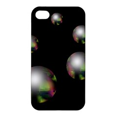 Silver Pearls Apple Iphone 4/4s Hardshell Case by Valentinaart