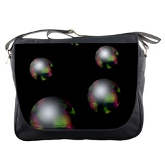 Silver Pearls Messenger Bags by Valentinaart