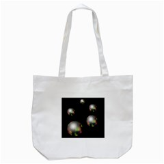 Silver Pearls Tote Bag (white) by Valentinaart