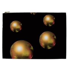 Golden Pearls Cosmetic Bag (xxl)  by Valentinaart