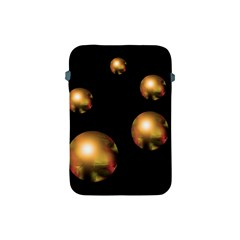 Golden Pearls Apple Ipad Mini Protective Soft Cases by Valentinaart