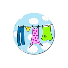 Laundry Magnet 3  (round) by Valentinaart