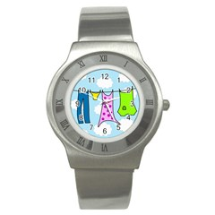 Laundry Stainless Steel Watch by Valentinaart