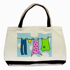 Laundry Basic Tote Bag (two Sides) by Valentinaart