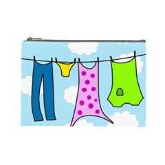 Laundry Cosmetic Bag (large)  by Valentinaart