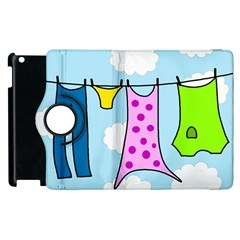 Laundry Apple Ipad 3/4 Flip 360 Case by Valentinaart