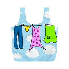 Laundry Full Print Recycle Bags (m)  by Valentinaart