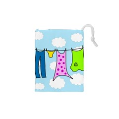 Laundry Drawstring Pouches (xs)  by Valentinaart