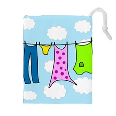 Laundry Drawstring Pouches (extra Large) by Valentinaart