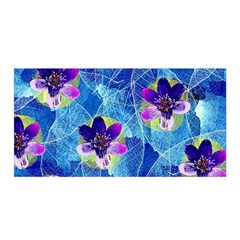 Purple Flowers Satin Wrap by DanaeStudio