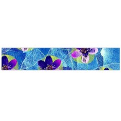 Purple Flowers Flano Scarf (large) by DanaeStudio