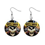 gnr 1  Button Earrings