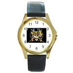 gnr Round Gold Metal Watch