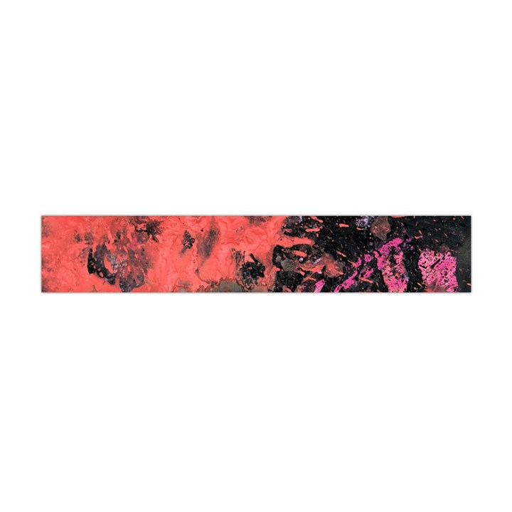 Pink And Black Abstract Splatter Paint Pattern Flano Scarf (Mini)