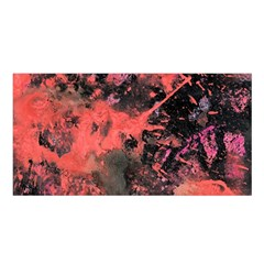 Pink And Black Abstract Splatter Paint Pattern Satin Shawl by traceyleeartdesigns