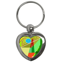 Colorful Abstraction Key Chains (heart)  by Valentinaart