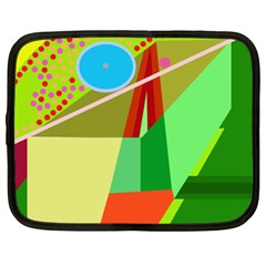 Colorful Abstraction Netbook Case (xxl)  by Valentinaart