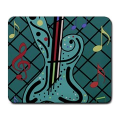 Blue Guitar Large Mousepads by Valentinaart