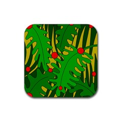 In The Jungle Rubber Square Coaster (4 Pack)  by Valentinaart