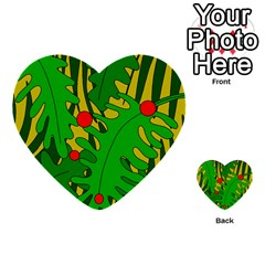 In The Jungle Multi Purpose Cards (heart)  by Valentinaart