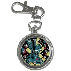 Playful Guitar Key Chain Watches by Valentinaart