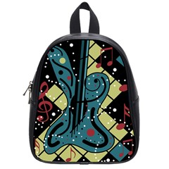 Playful Guitar School Bags (small)  by Valentinaart