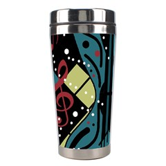 Playful Guitar Stainless Steel Travel Tumblers by Valentinaart