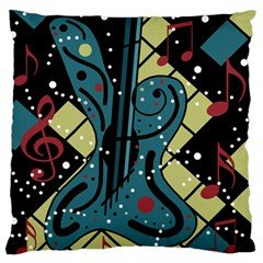 Playful Guitar Standard Flano Cushion Case (one Side) by Valentinaart