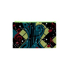 Playful Guitar Cosmetic Bag (xs) by Valentinaart