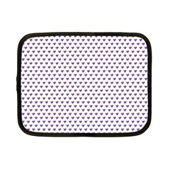 Purple Small Hearts Pattern Netbook Case (small)  by CircusValleyMall