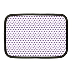 Purple Small Hearts Pattern Netbook Case (medium)  by CircusValleyMall