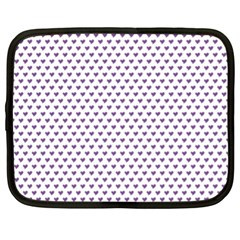 Purple Small Hearts Pattern Netbook Case (xl)  by CircusValleyMall