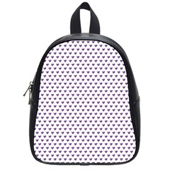 Purple Small Hearts Pattern School Bags (small)  by CircusValleyMall