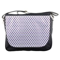 Purple Small Hearts Pattern Messenger Bags by CircusValleyMall